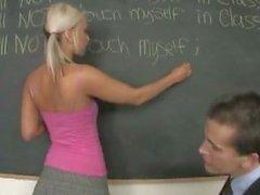 Pigtailed Teen Schoolgirl Fucks Teacher In Class