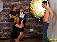 Milf Photographer Shoots a Male Model