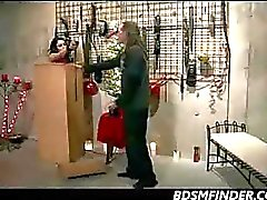 A BDSM Christmas Spanking And Fuck