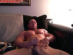 Straight Bodybuilder Sofa Stroke