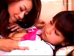 Shy Schoolgirl In Uniform Kissing Getting Her Tits Rubbed Pussy Licked Fingered By Older Girl On The Couch