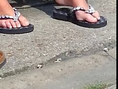 Candid British Womens Feet while on Smoke Brreak