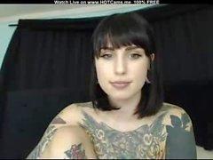 Beautiful Busty Tattooed Brunette Anal Toy & Magic Wand