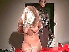 Mandy Bright punishing Nikky Thorne pretty hard
