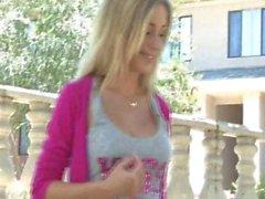 FTV Girls FTVGirls Julia sexy blonde teen flashing boobs in a public place