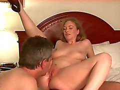 hubby licks wifes creampie clean