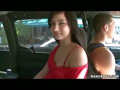 Chonga Gets Fucked on the BangBus - Public Hardcore Reality Sex for Money