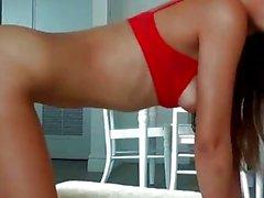 Sexy hottie Emily Benjamins ass pumped