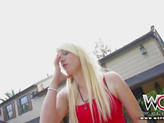 WCP CLUB Blonde housewife takes on a BBC for favou