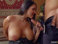 Busty assistant Missy Martinez gets her bald latin pussy slammed