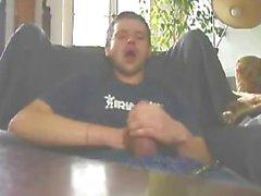 Catching cum self facial cum in mouth