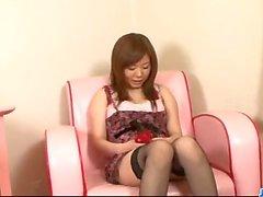 Sweet maid, Aoi Mizumori, pleases two tasty c