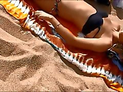 Topless Jugendlichen an in Barcelona spanischen Strand