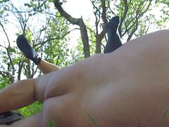 Big tits mature whore fucked outdoor by romanian guy POV
