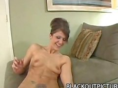 Jami Kenney: Hungry Bitch Gorging On Huge Black Dong POV Style