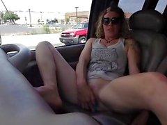 Deep G-Spot Vibrator Orgasm While Driving