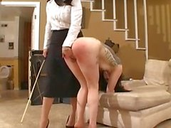BDSM goth girl caning