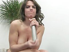 Babe take off with her vibrator