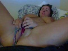huge tits chubby babe masturbating