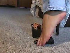 Mature feet in mules 3 Roy from 1fuckdatecom