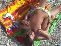 Voyeur clip of a couple shagging