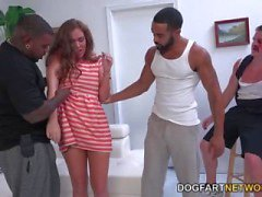 Maddy O'Reilly Gets Double Dicked By Black Me