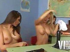 Hot Euro Classroom Orgy