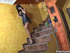 Wonderful high-heels Black Angelika getting nailed hard in
