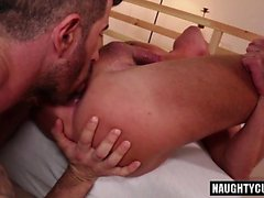Tattoo gays ass to mouth and cumshot