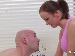 Client seduce redhair Masseuse To Fuck