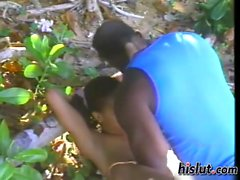 Orgasmic twat gets rammed in the woods