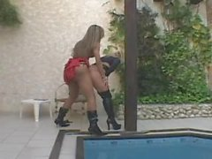 big cock shemale grazielle sanches fucks hot blonde babe, hot shemale, anal