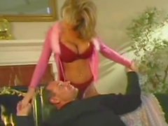 Olivia gets her big fake tits jizzed