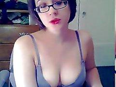 högskola slampa masturbates på webcam