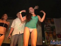 Naughty babes enjoy themselves at a party