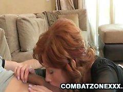 Brooklyn Lee - Redhead Maid Servicing Her Boss
