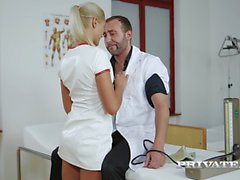 private - Blonde babes Nikky Thorne and Cherry Kiss in an Anal Threesome