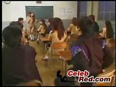 _Class at Japanese Classroom Full Of Naked Schoolgirls End Up With Orgy class