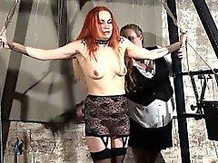Redhead play piercing slave Mary
