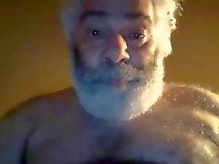 Cabeludo com tesão Nova Iorque Bear do paizinho masturba na webcam