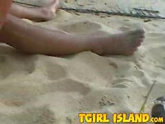 Blondie fucked on the beach