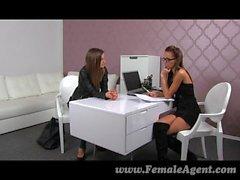 FemaleAgent - Sexy agents friend needs work