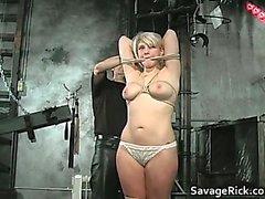 Sexy horny hot big boobed blonde slut part5