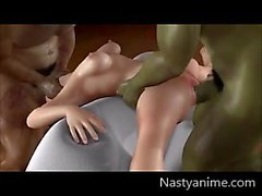 Hentai Yui Fucked By Two Orcs