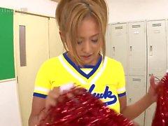Busty Cheerleader Yui Aoyama Fucked in Locker Room Uncensored JAV-