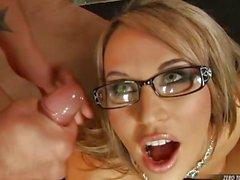 Hot and wild Aleksa Diamond awaits a perfect blast of jizz on her slutty face