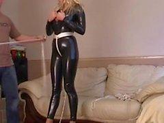 latex babe bondage