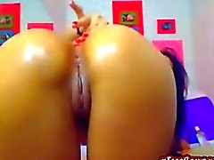 Latina teen with perfect ass dildos puss