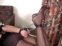 Sexy Woman Hogtied & Ball Gagged