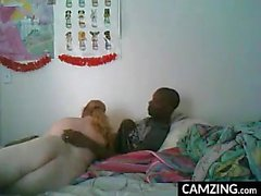 Interracial domina licked by cuckold guy